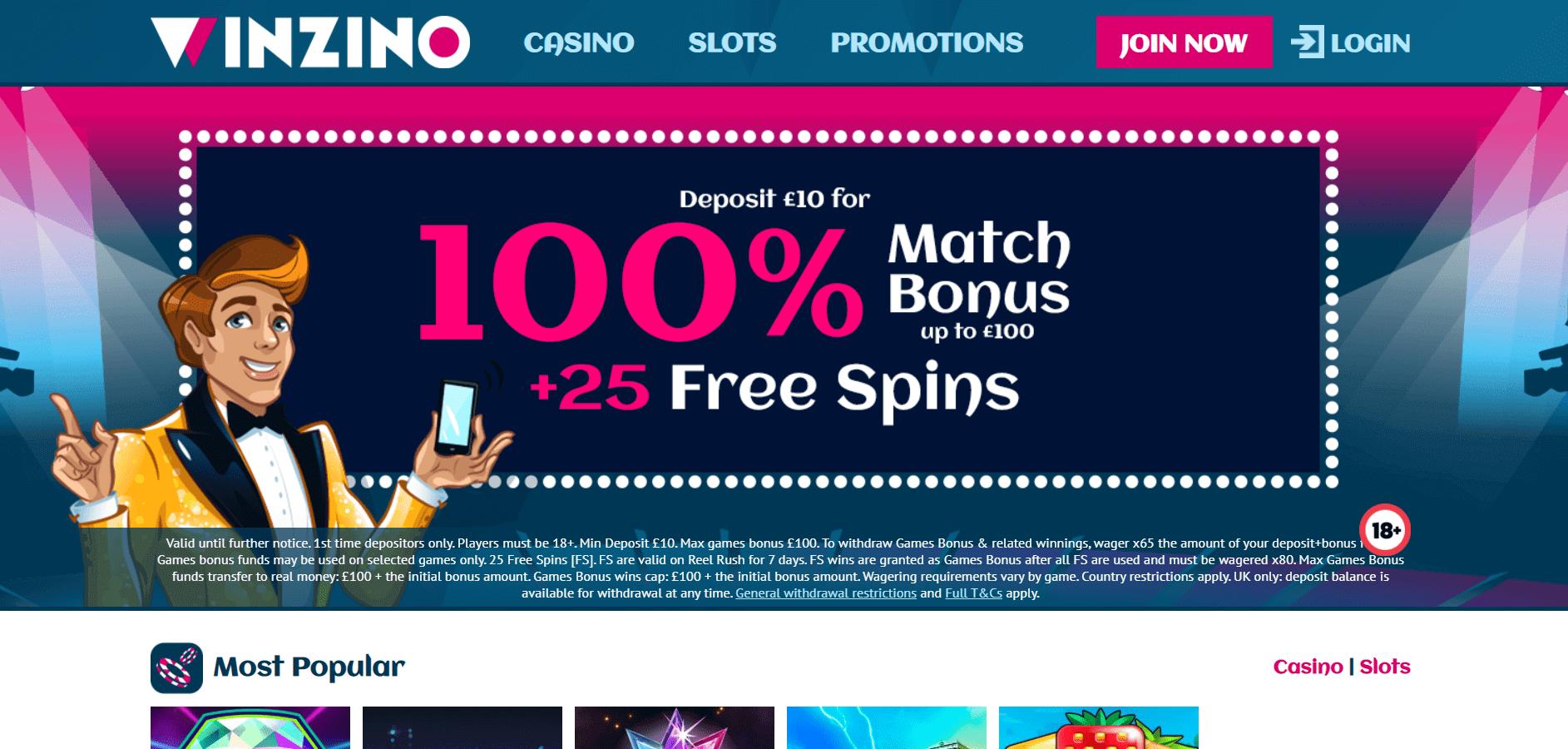 winzino casino bonuses
