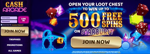 Cash Arcade bonus
