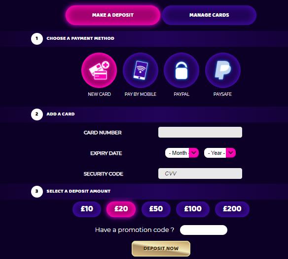 Cash Arcade deposit
