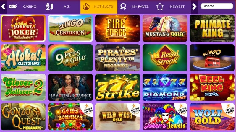 fever slots games
