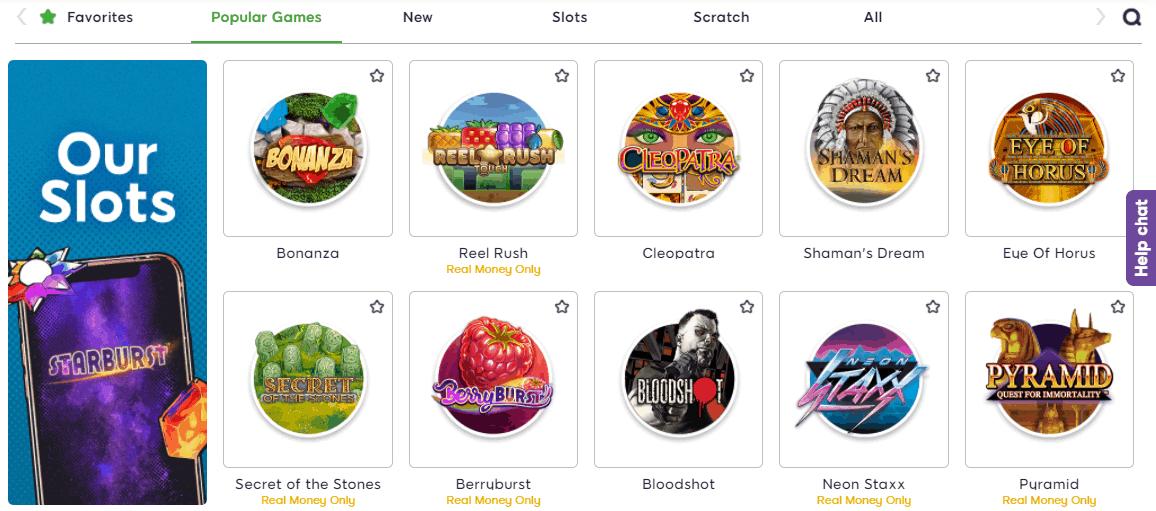Bonnie Bingo slot games