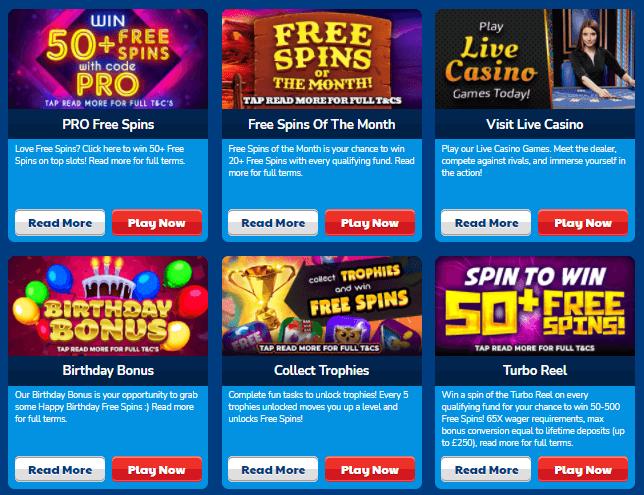 Online Slots UK promotions