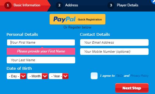 Online Slots UK sign up