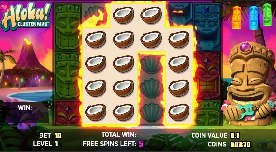 Aloha! Cluster Pays Free Spins