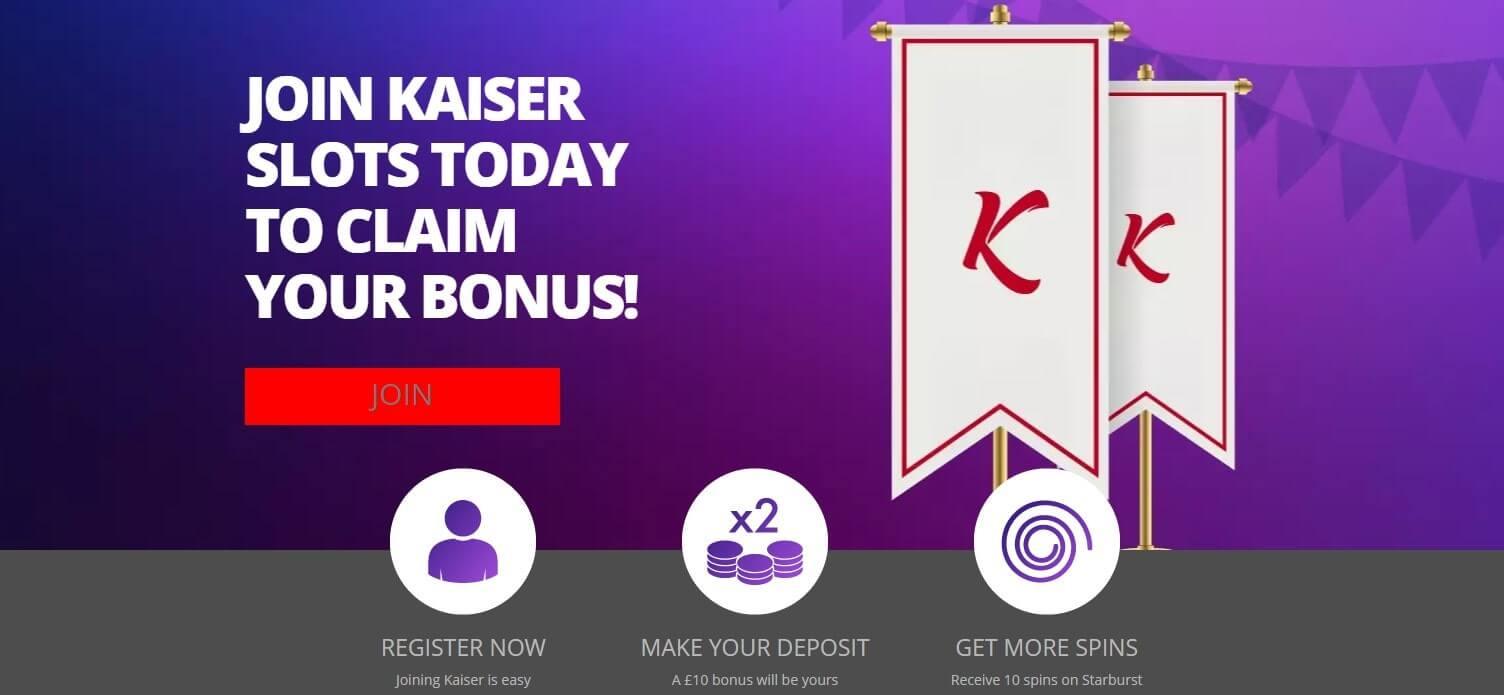 kaiser slots welcome bonus