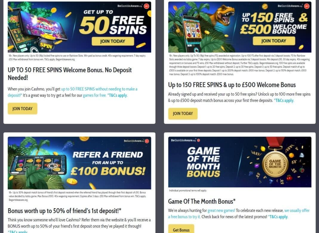 cashmo casino promotions