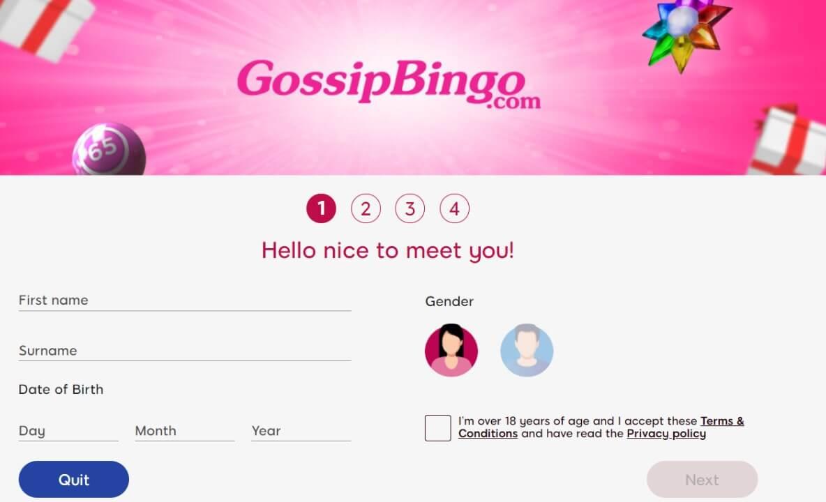 gossip bingo account creation