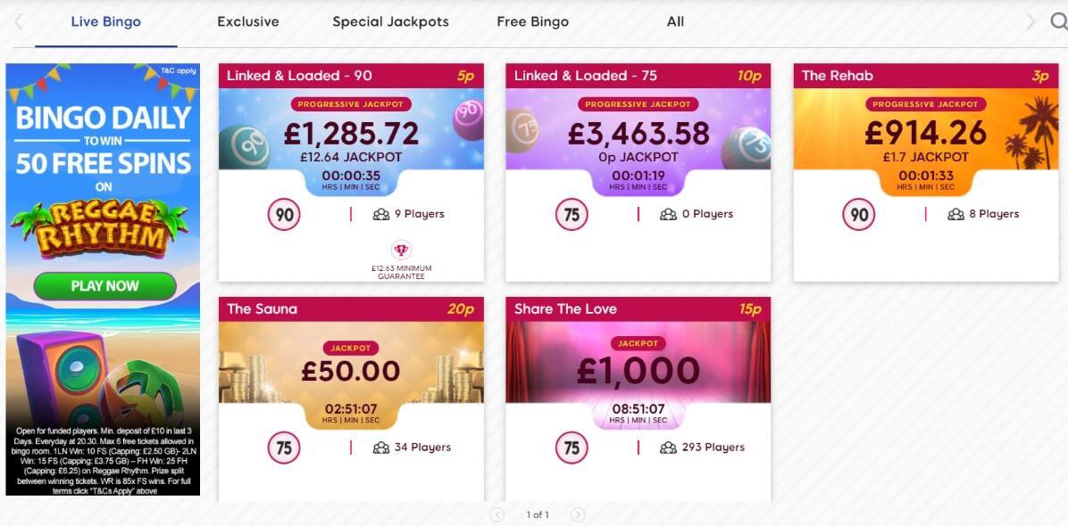 gossip bingo jackpots
