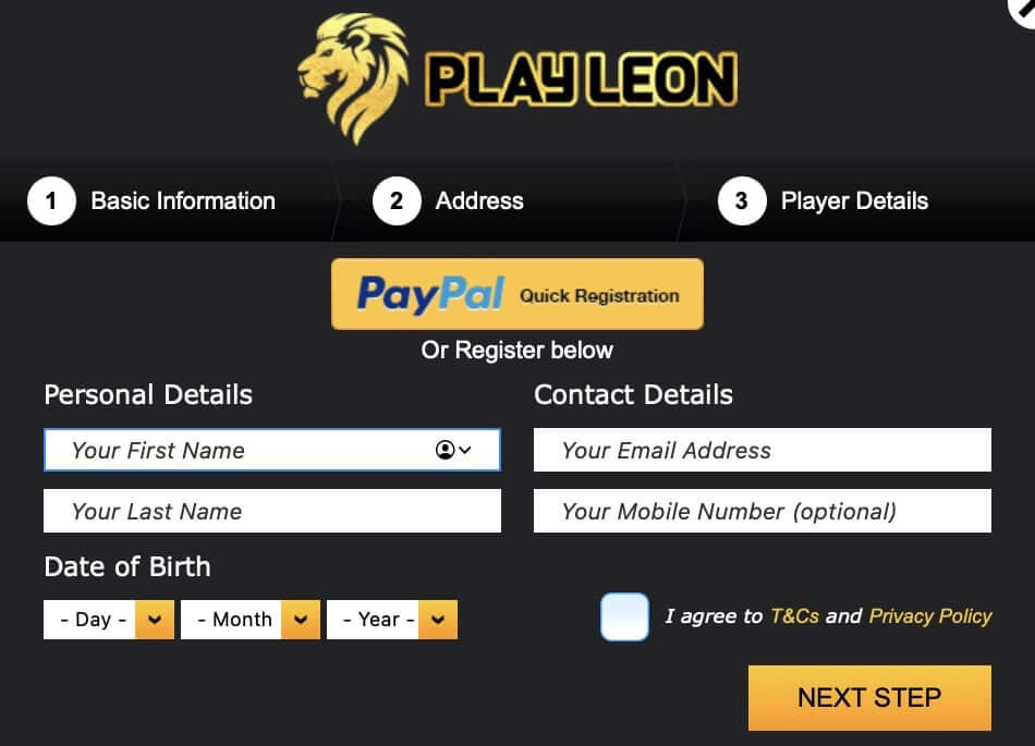 How to Create a Play Leon Account