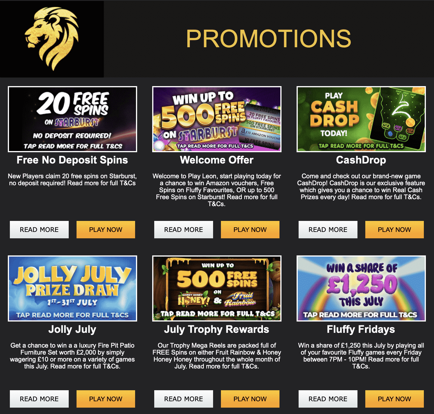 Play Leon Bonuses and Promotions