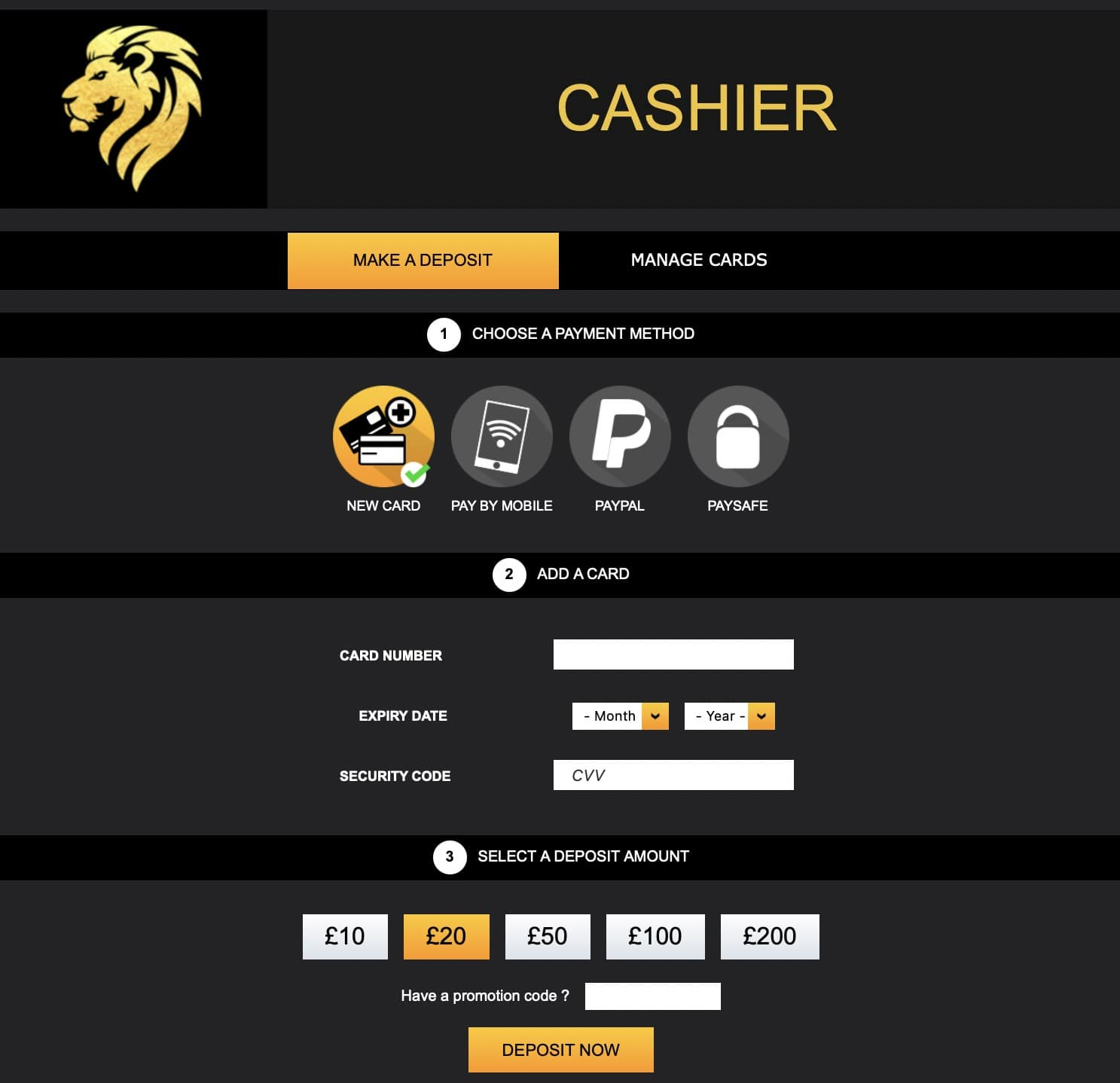 Play Leon Casino Deposit and Withdrawal Policy