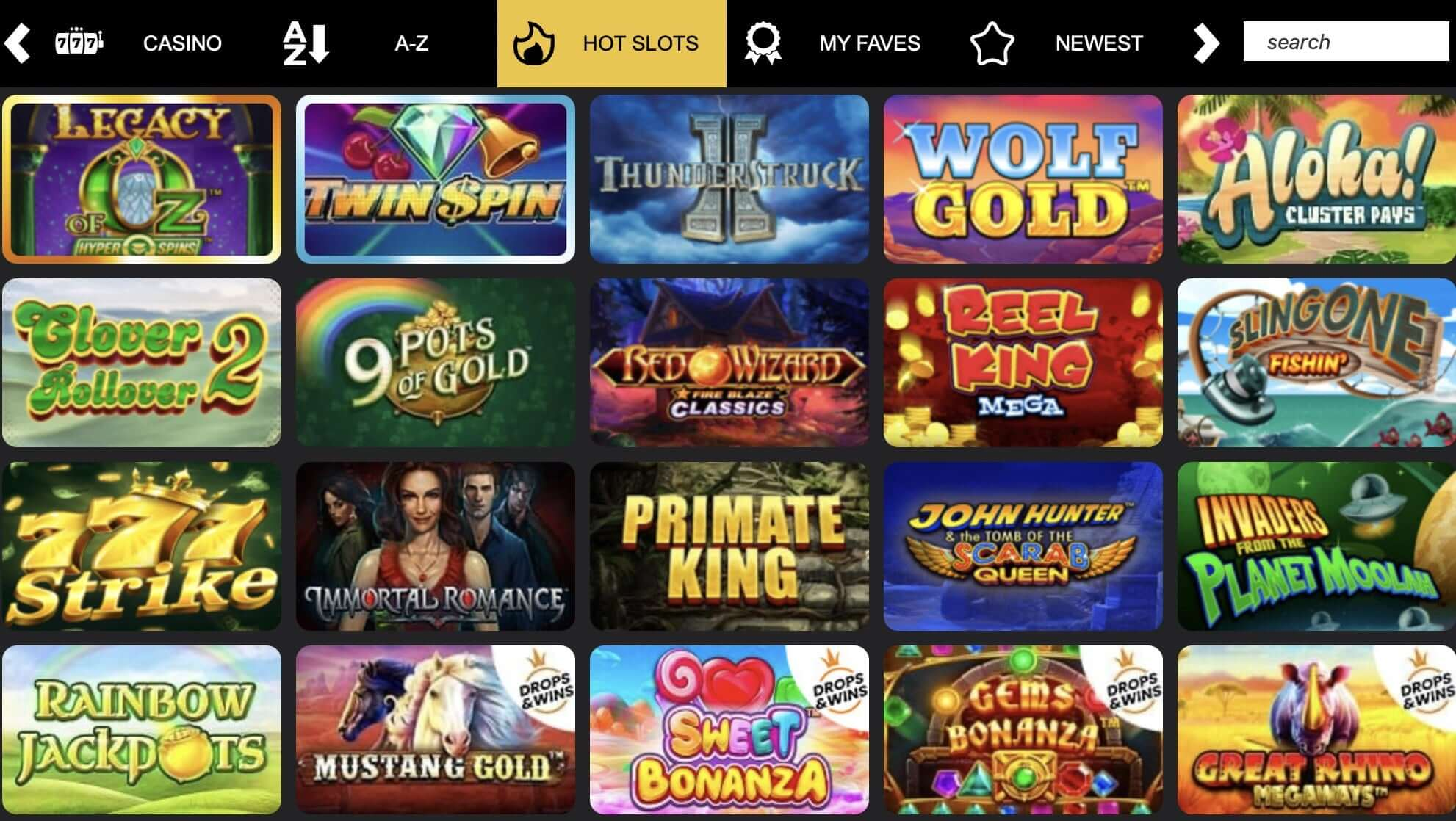Play Leon Casino Games Variety and Software