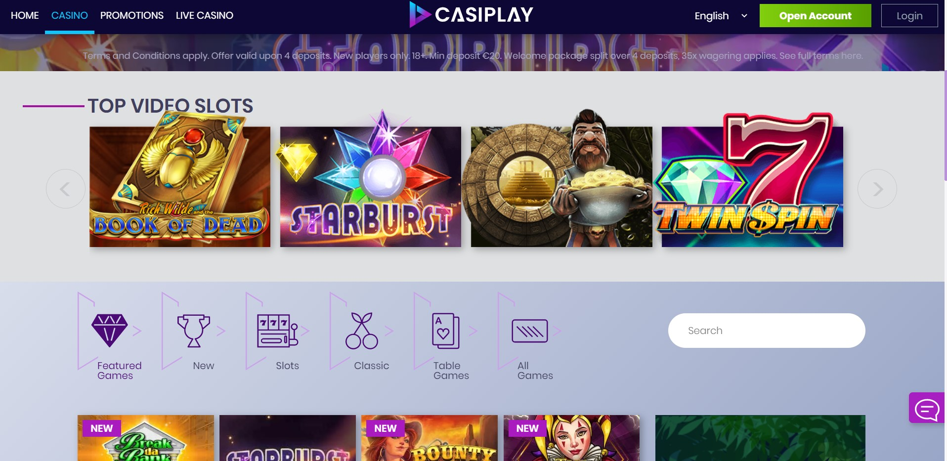 Casiplay casino slots