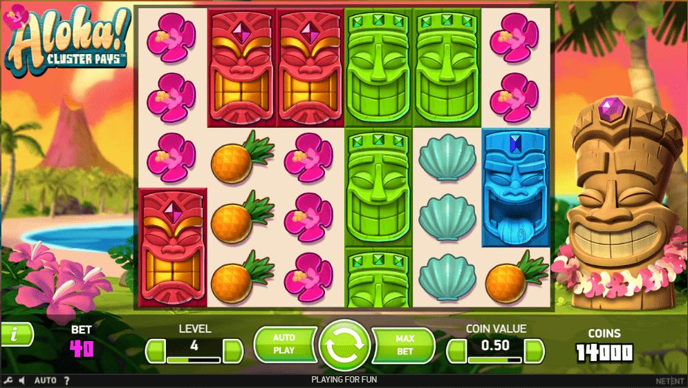 Aloha! Cluster Pays bonus spins