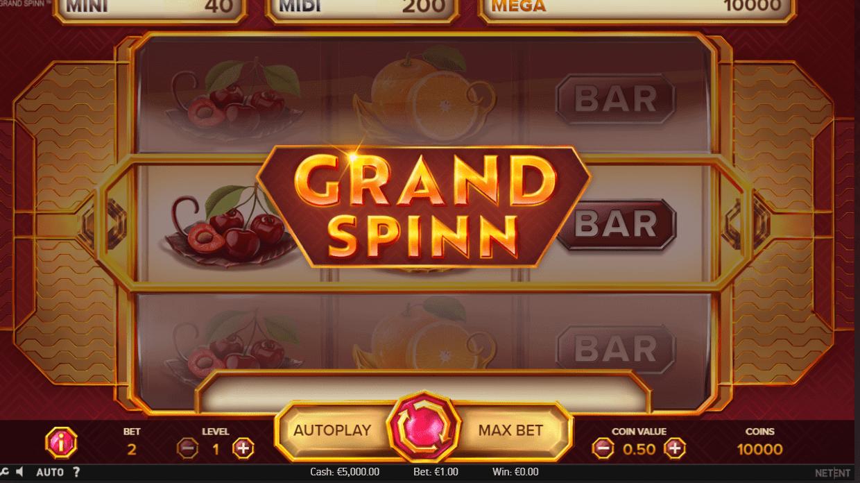grand spinn bonus spins