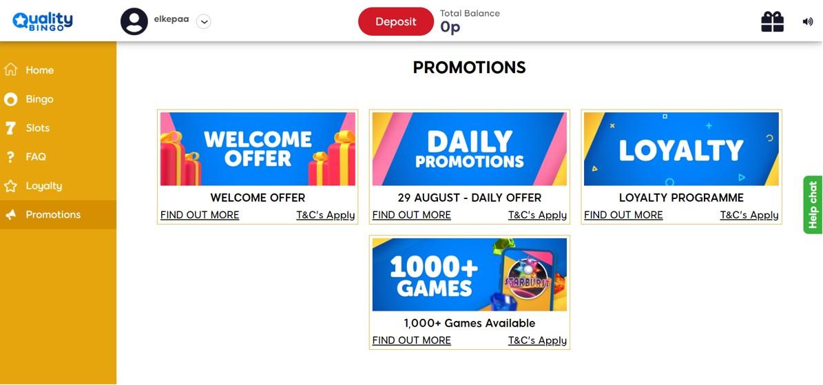 quality bingo promotions