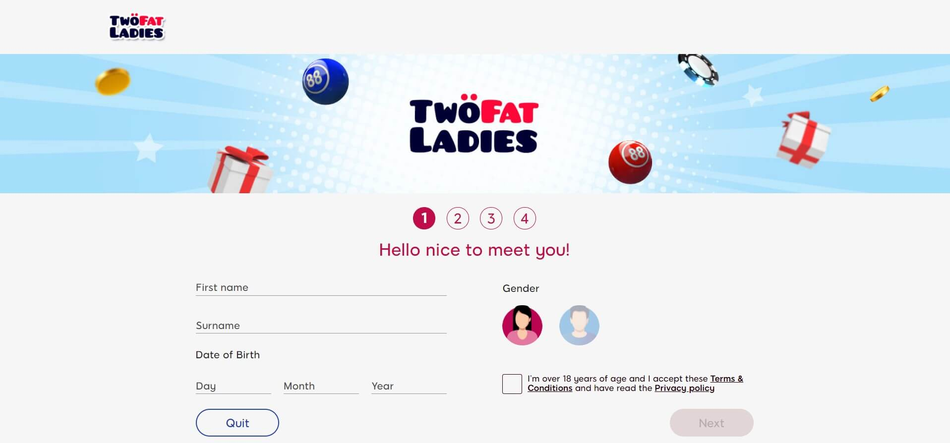 Two Fat Ladies sign up