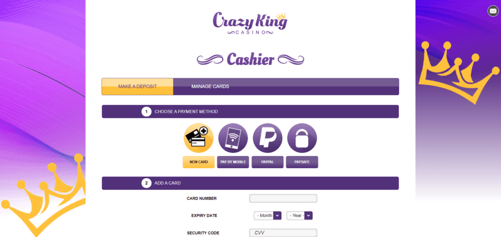 Crazy King Casino Withdrawal