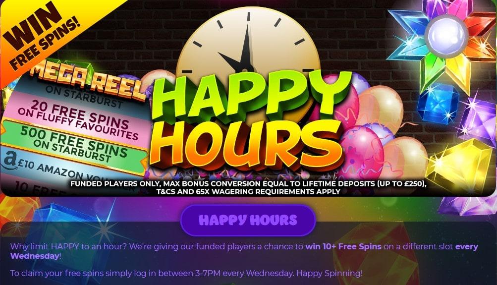 crystal slots happy hours
