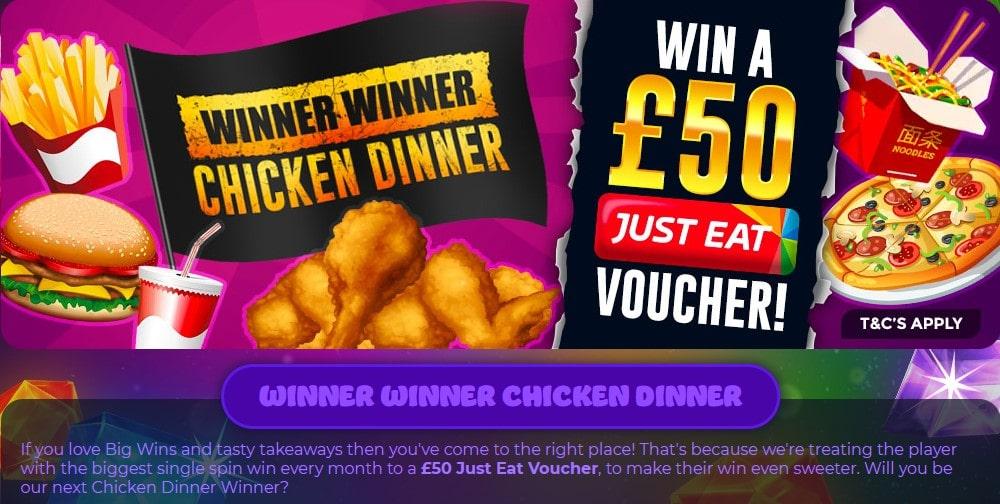 crystal slots winner chicken dinner