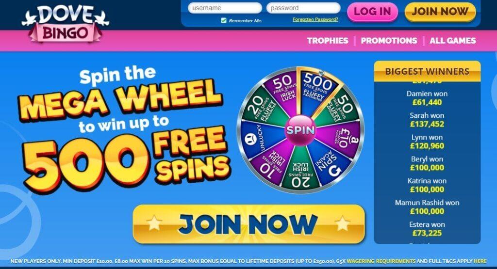 Dove Bingo Promo Codes