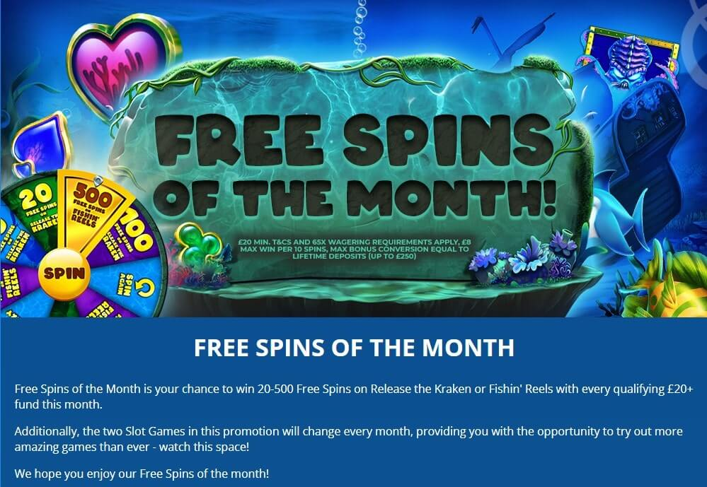Dove Bingo Free Spins of the Month