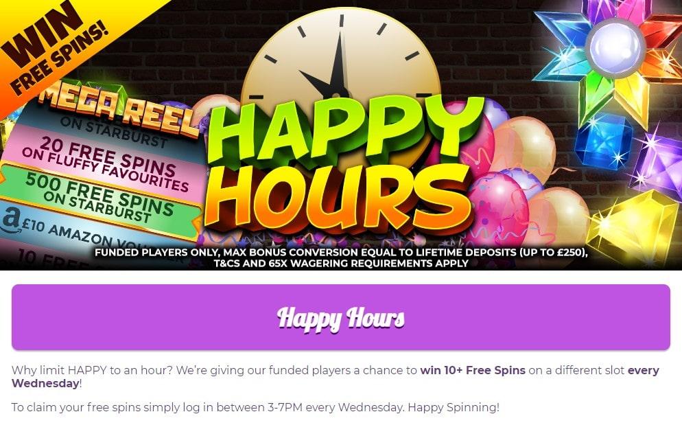 fairground slots happy hours