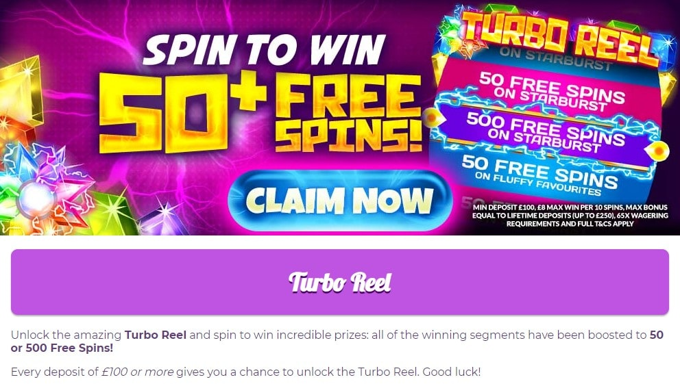 fairground slots turbo reel