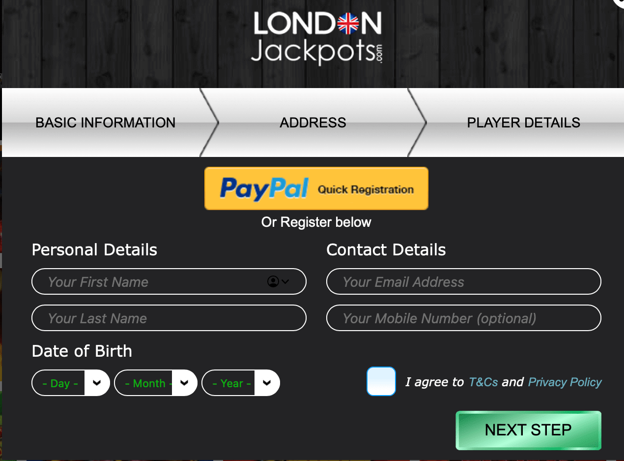 London Jackpots Login