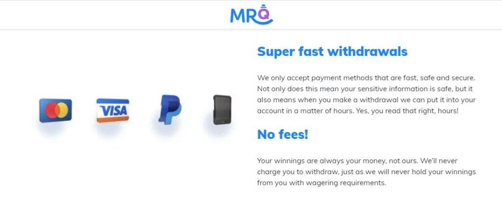 mrq casino fast withdrawals