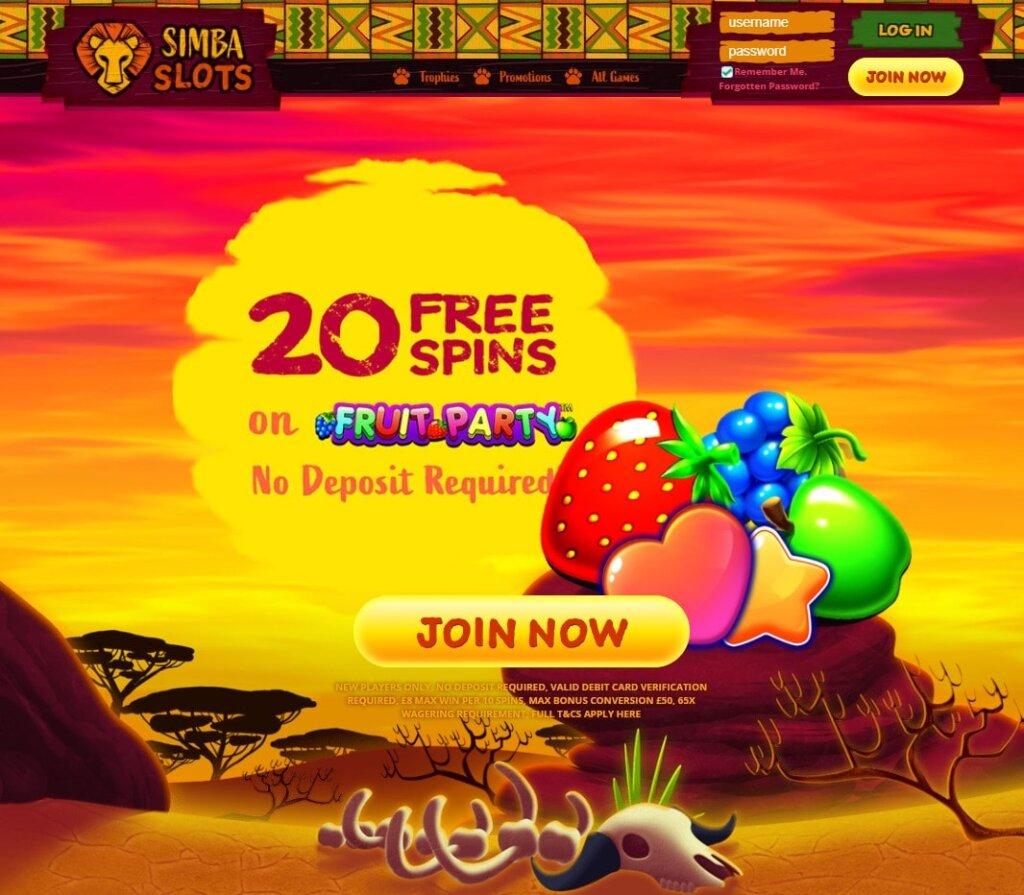 simba slots casino uk
