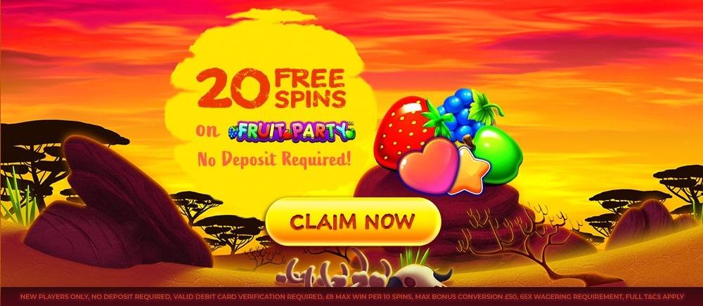 simba slots no deposit 20 free spins