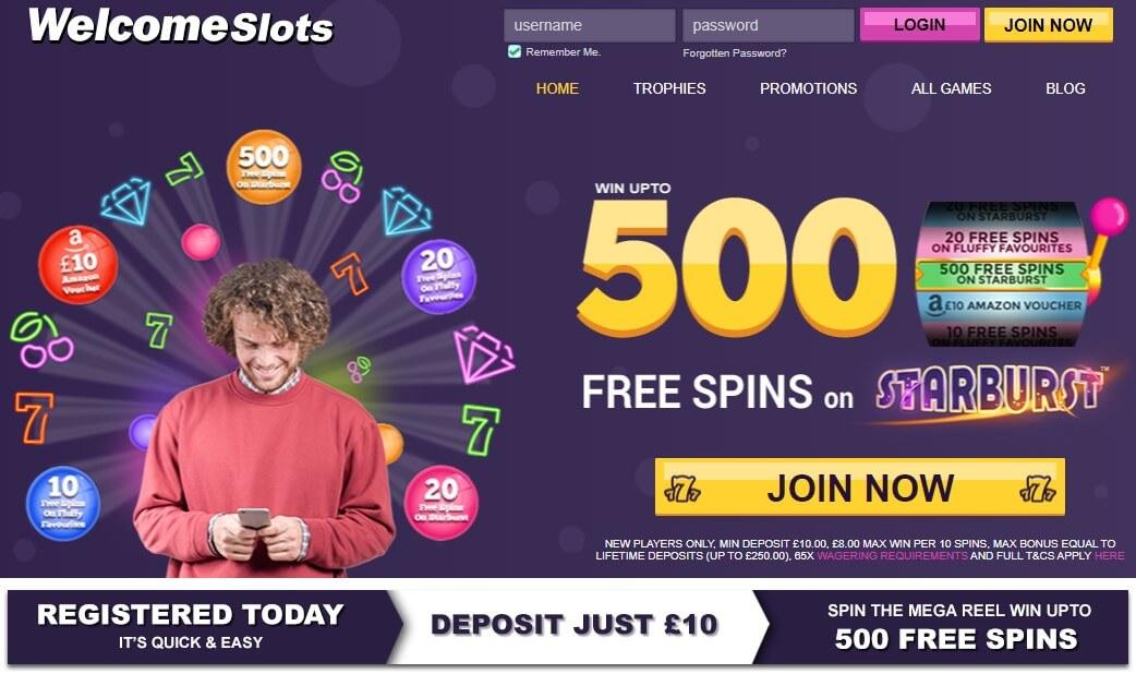 welcome slots bonus code